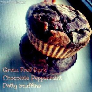 Dark Chocolate Peppermint Protein Muffins