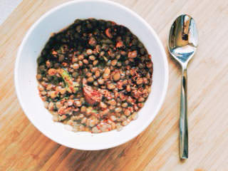BBQ lentil pea stew