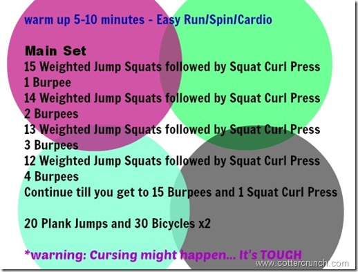 burpee count UP