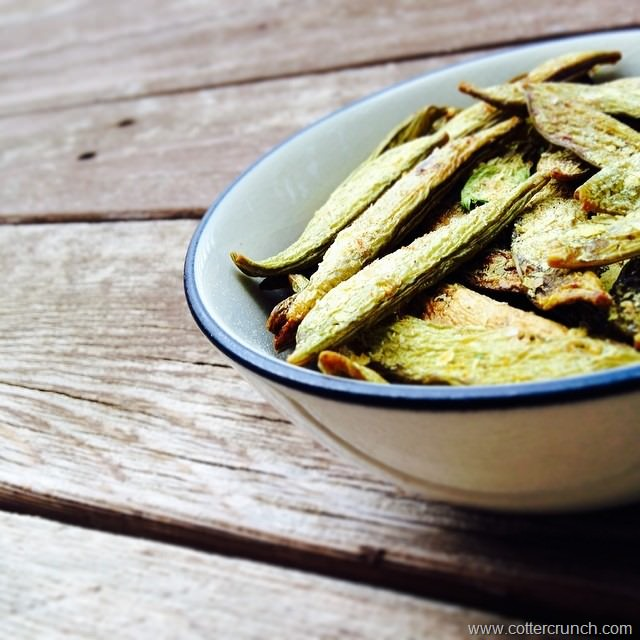how to make homemade snap pea chips!