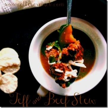 teff and beef stew (GF)