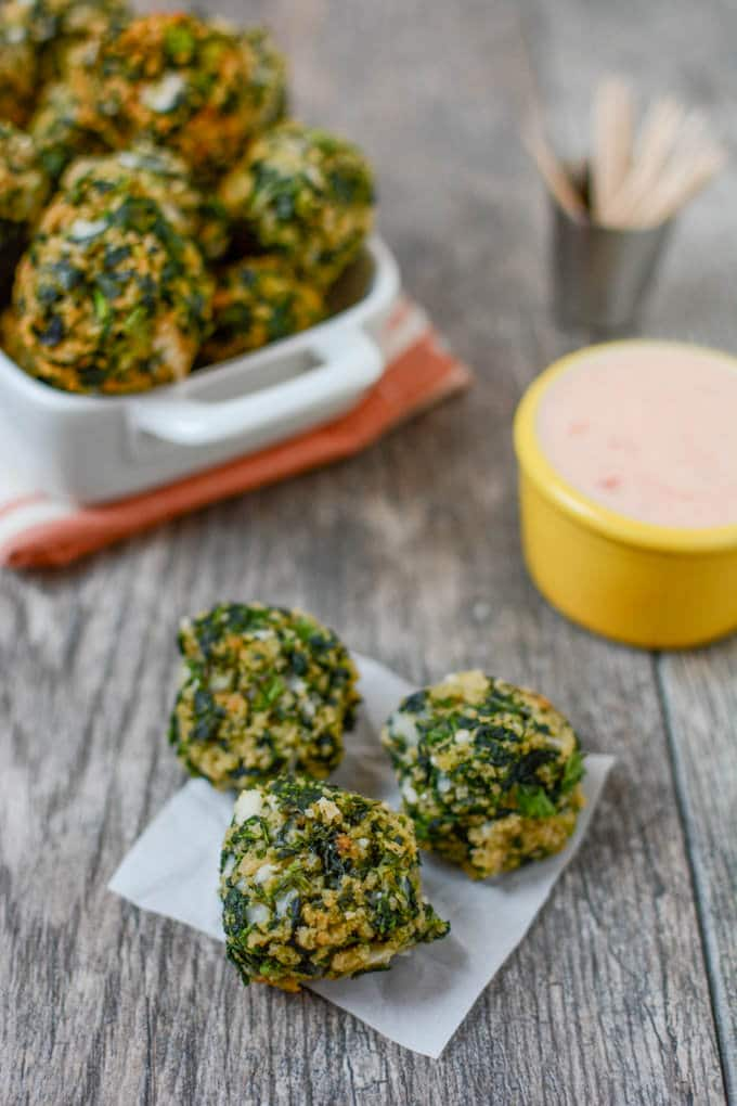 Spinach-Balls! Healthy and great for kids