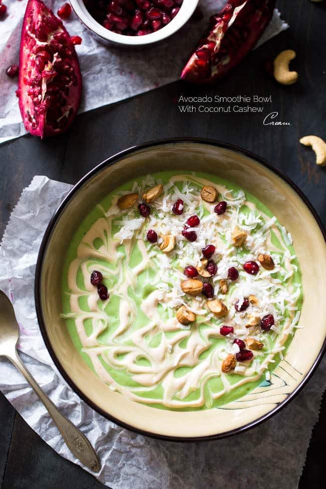 Avocado Smoothie bowl! with coconut cashew cream