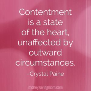 Motivation Monday – Choosing Contentment