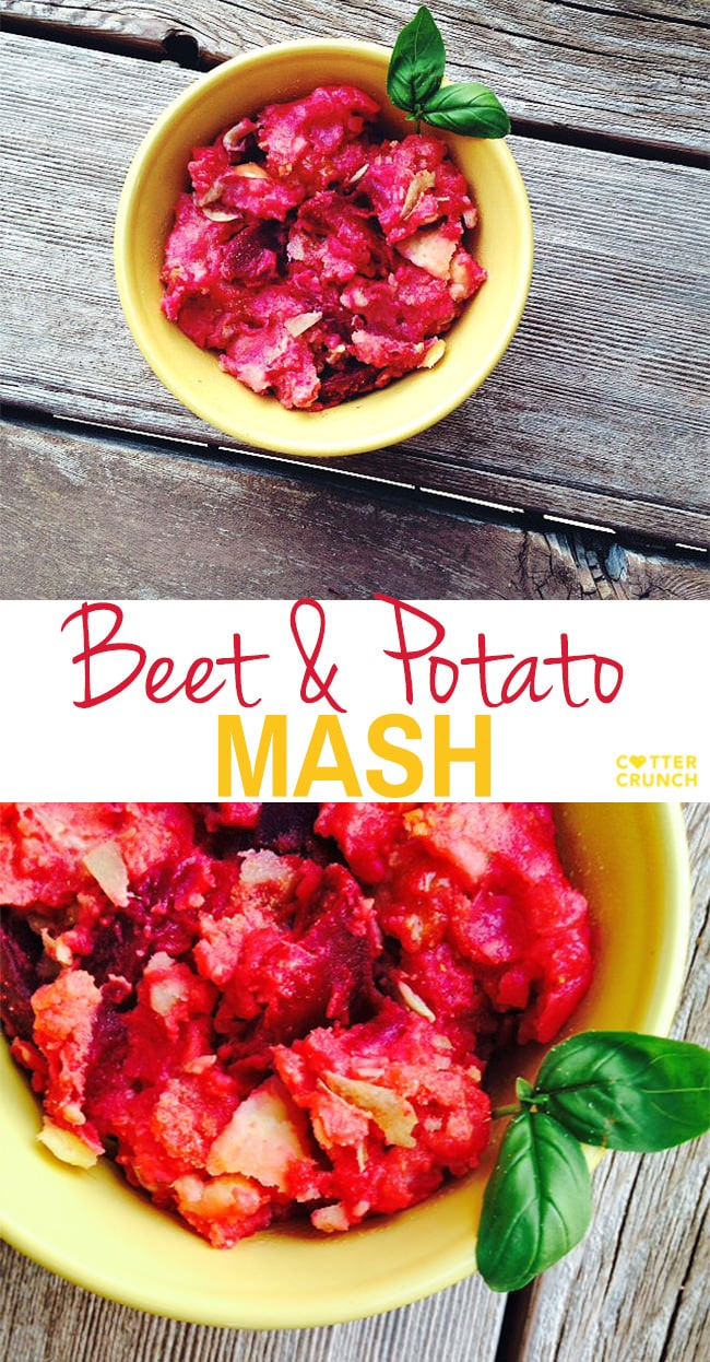 gluten free beet and potato mash! a great side dish rich in antioxidants and full of flavor!