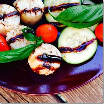 balsamic glazed scallops