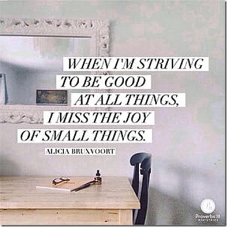 small things- striving