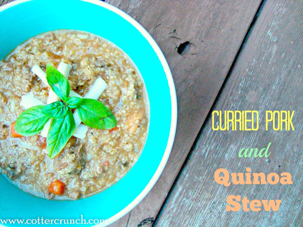 A great way to make a hearty stew, add in quinoa! Great in slow cooker and a delicious gluten free stew.