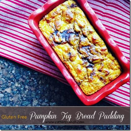 pumpkin fig bread pudding (allergy friendly)