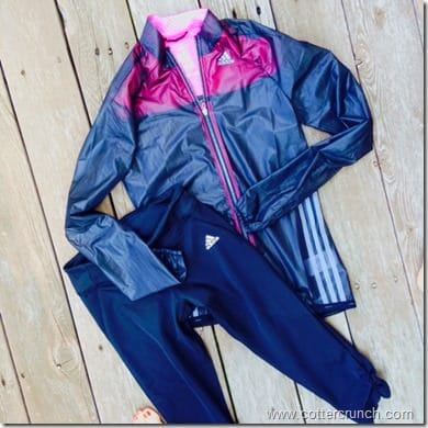 Adizero Climaproof Jacket  @adidaswomenUS and run tights capris from @adidaswomen