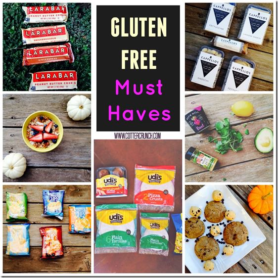 gluten free must haves