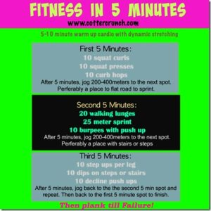fitness in 5 minute WOD