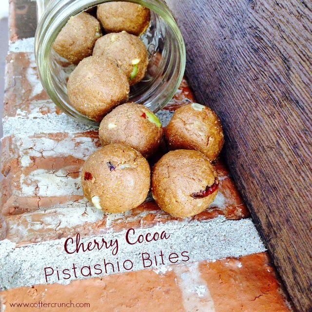 Cherry Cocoa Pistachio Bites