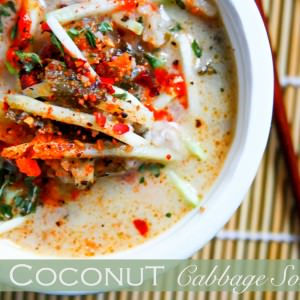 Thai coconut soup with cabbage www.cottercrunch.com