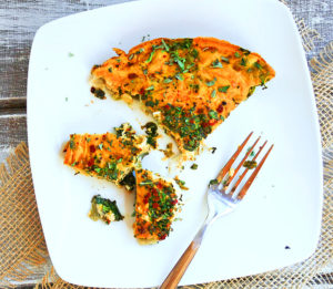 Paleo Pumpkin Kale and Turkey Frittata