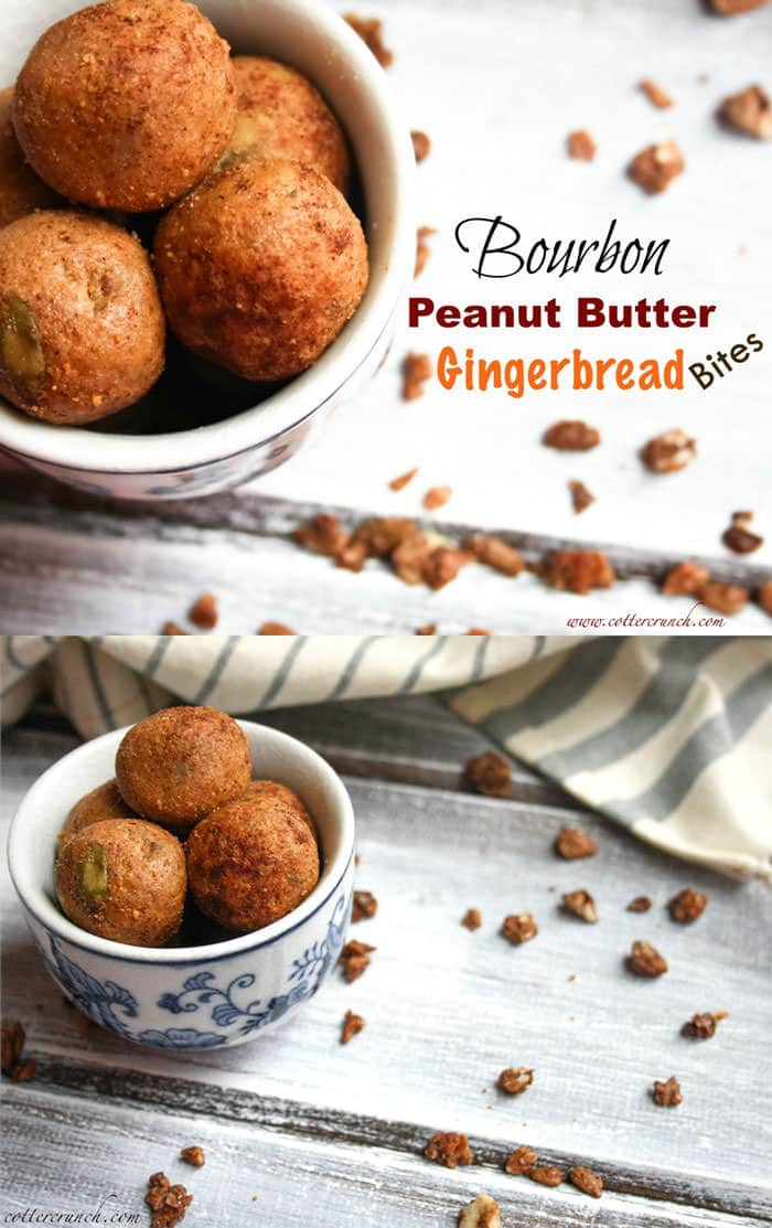 grain free bourbon gingerbread protein bites. So easy to make, no bake, and great for snacking !!