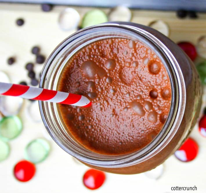 Super food super fruit cake chocolate smoothie! Yes, a cake smoothie packed with super fruit like berries, dark chocolate, and more! It's healthy, vegan, paleo, and perfect for breakfast or post workout. Cake in chocolate smoothie form, anytime!