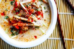 Coconut Cabbage Paleo Thai Soup {Vegan Friendly}