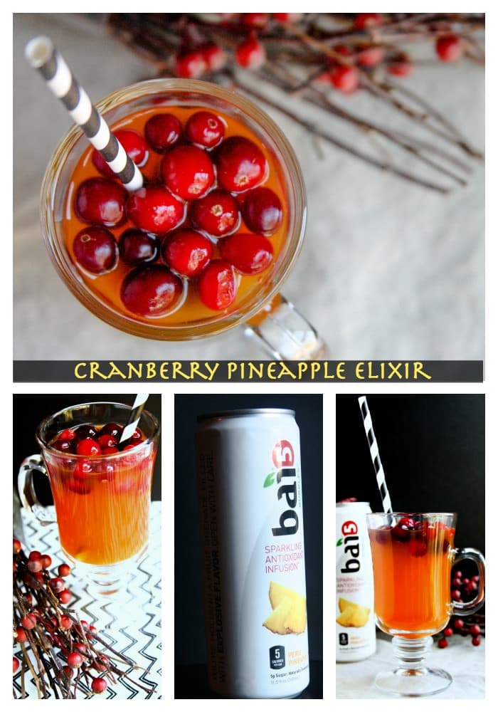 Cranberry Pineapple Bai Gut Healthy Elixir Recipe - cottercrunch.com