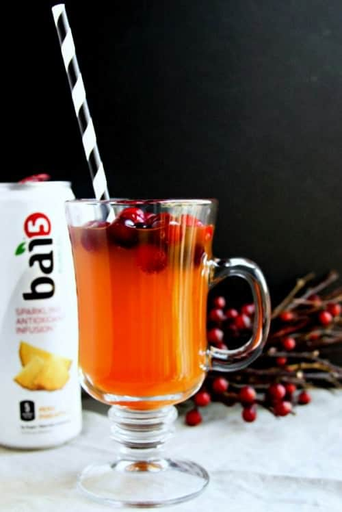 Cranberry Pineapple Elixir . Healthy Mocktail for the holidays!