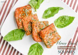 Gluten Free Honey Basil Buttermilk Squares