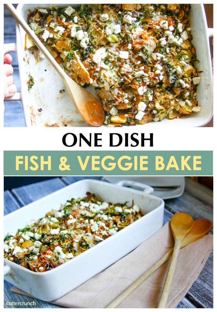 One dish fish and veggie bake - @Cottercrunch