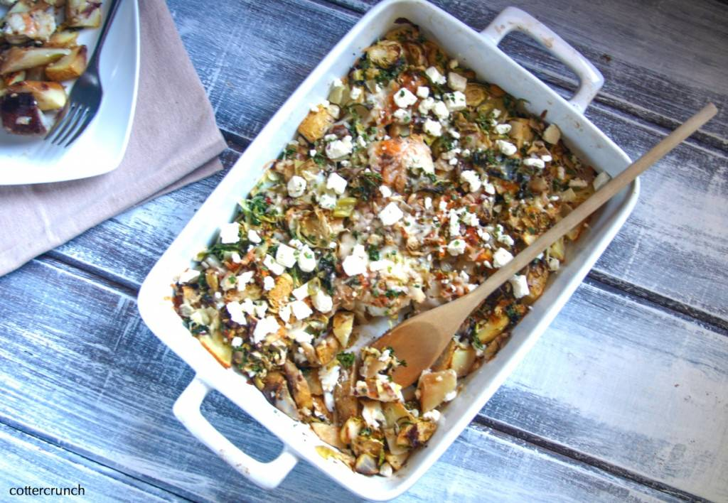 One dish fish and veggie bake - Week night meals made easy! #paleo friendly and delicious! @cottercrunch