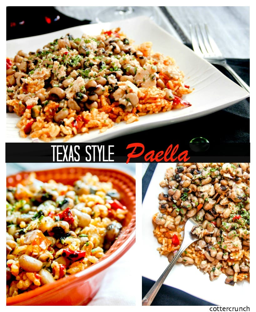 texas style seafood and pork paella- cottercrunch