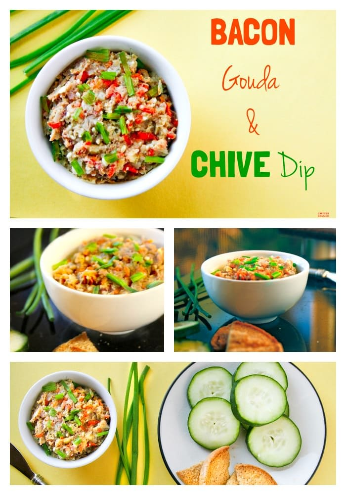 Heavenly Bacon and Gouda dip! Plus a secret superfood ingredient you'll want to check out. the perfect for an appetizer or gluten free snack! www.cottercrunch. com.