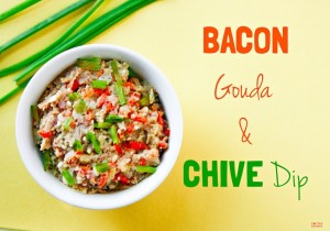 Bacon Chive and Gouda Cheese Dip {Gluten Free, Low Carb}