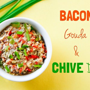 Heavenly Bacon and Gouda dip! Plus a secret superfood ingredient you'll want to check out. the perfect for an appetizer or gluten free snack! www.cottercrunch.