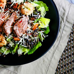 surf and turf curry ceasar salad