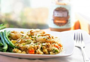 Quinoa Stir Fry with Scallops