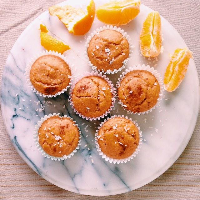 tropical orange protein muffins