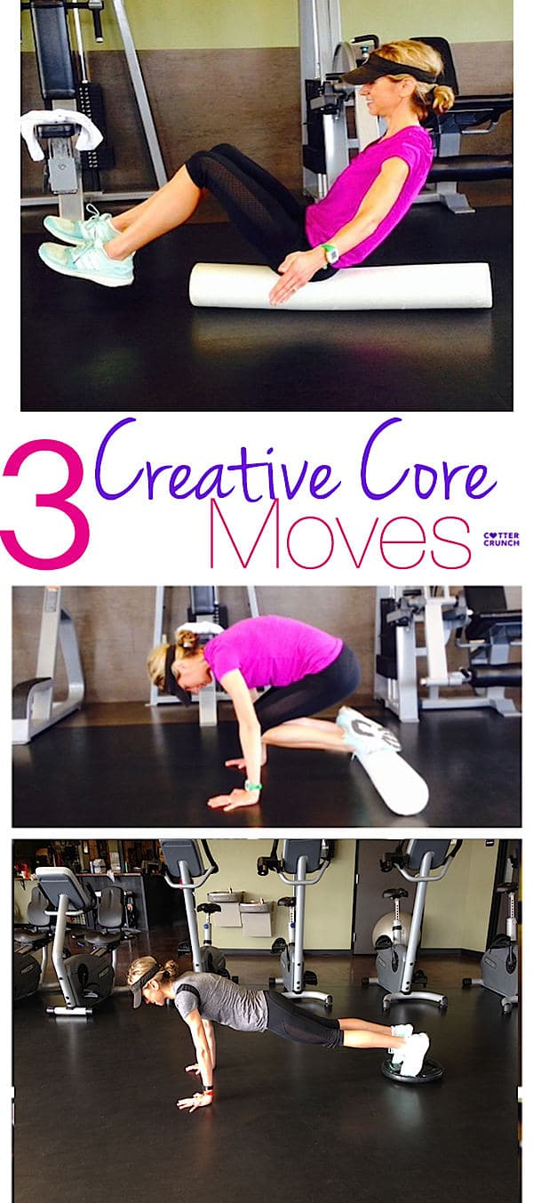 TThese 3 crunch-less and creative core moves for balance and strength are such fun to try! See for yourself.