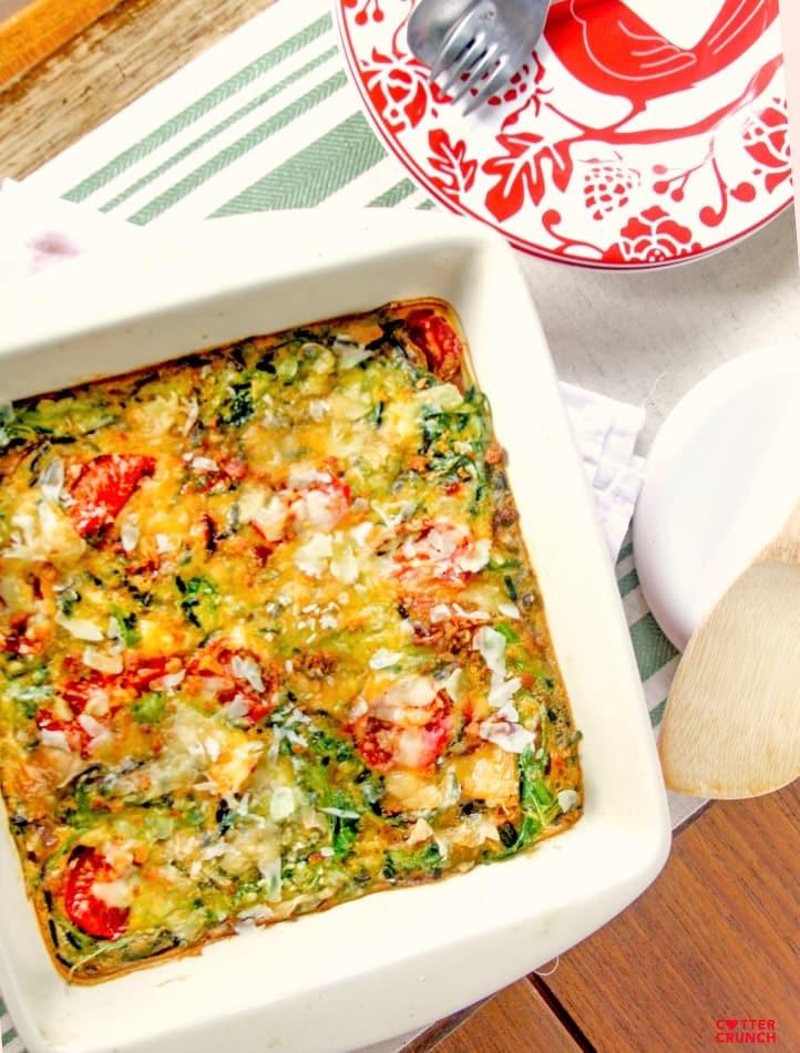 BLT egg casserole bake - quick healthy gluten free dinner! www.cottercrunch.com @cottercrunch