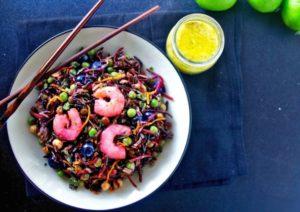 Gluten Free Shrimp Salad with Black Rice