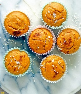 Naturally Sweetened Orange Coconut Oat Muffins
