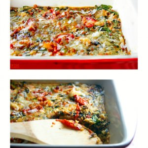 BLT egg casserole bake - quick healthy gluten free dinner!