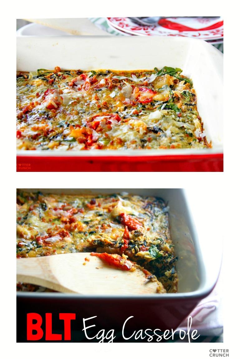 egg casserole bake - quick healthy gluten free dinner!
