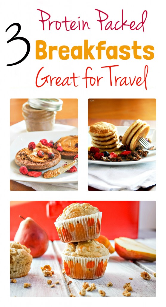 Looking for some Protein Packed and Gluten free Breakfast ideas? These 3 Recipes and foods are great for travel! On the go, in the air, or on the road! Oh and simply delicious.  www.cottercrunch.com