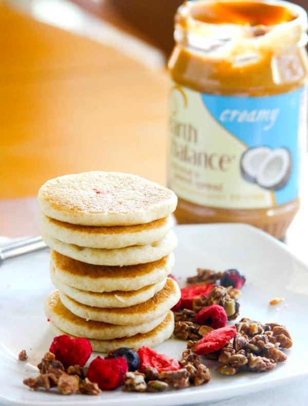 silver dollar gluten free protein pancakes