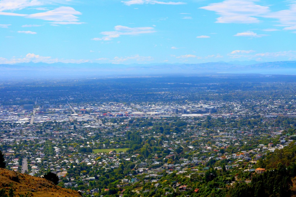 veiw of christchurch from above (New Zealand)