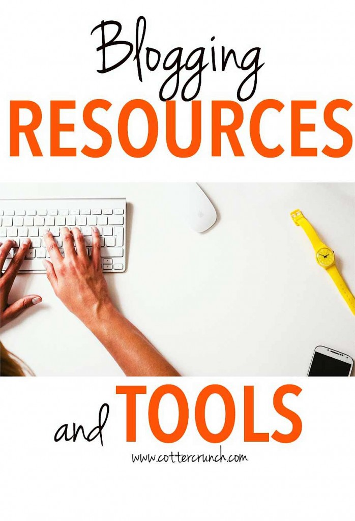 Every type of blogger needs a good list of tools and resources to take their blog up a notch, and to stay motivated and organized. Here are some great blogging tools and resources to help with that! @cottercrunch