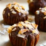 Naturally Sweetened Paleo Banana Muffins with Toasted Coconut