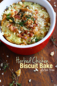 Easy Gluten Free Herbed Chicken and Biscuit Bake Recipe