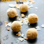 Grain Free Coconut Cream Peanut Butter Bites! These little snack bites taste like coconut cream pie and peanut butter combined. A rich flavor nourishing protein bite that will please your sweet tooth in a healthy way!