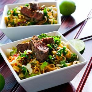 Spicy Rice Noodle Salad - 2 Ways {Gluten Free}