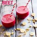 Tropical Beet Smoothie with Mac Nuts! It's healthy and fruity. An Endurance Boosting drink full of vitamins, minerals, antioxidants, and healthy fats.