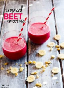 Tropical Beet Smoothie with Mac Nut {The Endurance Booster Drink}